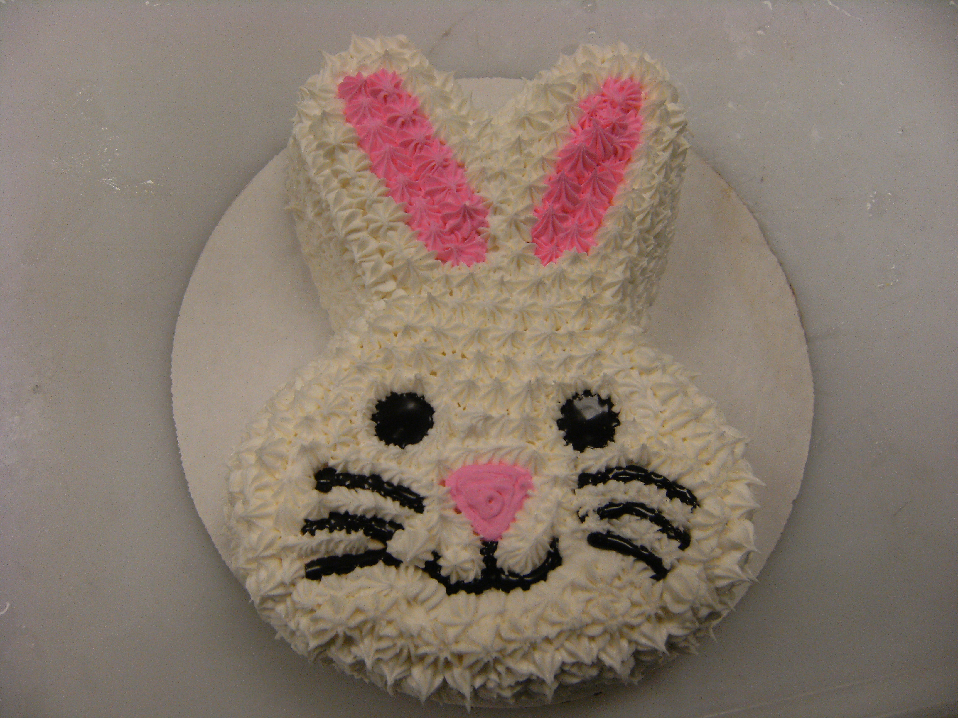 Bunny Ice Cream Cake